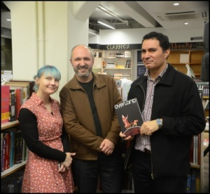 Overland Editor Jacinda Woodhead, Guest Editor Giovanni Tiso and Poetry Editor Robert Sullivan